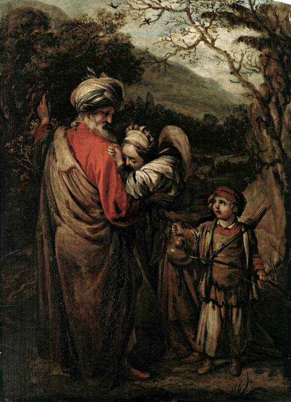 Barrent Fabritius, Abraham Dismissing Hagar and Ishmael, 1658, oil on wood